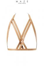 Harnais soutien-gorge marron - Maze - Le soutien-gorge avec courroie MAZE se marie parfaitement avec vos meilleurs ensembles, votre lingerie ou a même la peau.