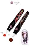 Deux stylos saveurs fraise et chocolat fabriqu�s par la marque espagnole Secret Play pour vos jeux �rotiques.