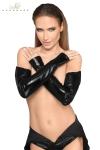 Gants longs style mitaines, un fourreau noir � offrir � vos bras.