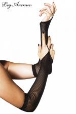 Gants 1 doigt résille - Gants 1 doigt fantaisie, accessoire indispensable de vos tenues résille.