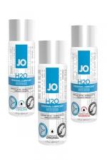 Lubrifiant Jo H2O - 60 ml - Le lubrifiant de référence de System Jo, à base d'eau et disponible en version normale, chauffante ou rafraichissante.
