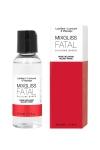 Fluide 2 en 1 massage et lubrifiant riche en silicone, parfum rose velours.