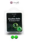 La chaleur du corps transforme la brazilian ball en liquide glissant avec effet stimulant, votre imagination s'en trouve exacerb�e.