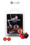 La chaleur du corps transforme la brazilian ball en liquide glissant au parfum de baies rouges, votre imagination s'en trouve exacerb�e.