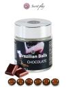 La chaleur du corps transforme la brazilian ball en liquide glissant au parfum chocolat, votre imagination s'en trouve exacerb�e.