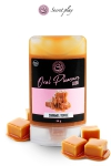 Lubrifiant 100% comestible au parfum caramel toffee sign� de la marque Espagnole Secret Play.