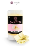 Lubrifiant 100% comestible au parfum chocolat blanc sign� de la marque Espagnole Secret Play.
