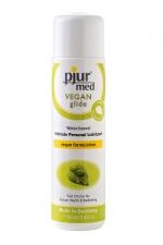 Lubrifiant Pjur Med Vegan glide 100ml   - Lubrifiant haute qualité à base d'eau et 100% Vegan, pour une lubrification douce et longue durée.