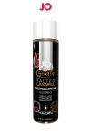 Lubrifiant aromatis� comestible parfum caramel sal� au format 120 ml de la marque Am�ricaine System Jo.