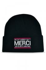 Bonnet Jacquie et Michel - noir - Le meilleur moyen de se faire remarquer sur les pistes?  Porter un bonnet Jacquie et Michel!