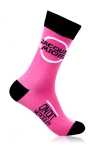 Paire de chaussettes Jacquie et Michel pour hommes, couleur rose.