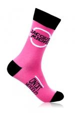 Chaussettes Jacquie & Michel - rose - Paire de chaussettes Jacquie et Michel pour hommes, couleur rose.