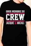 T-shirt humoristique Jacquie et Michel pour bien montrer qu'il y a du lourd sous le capot !