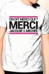 Tee-shirt officiel (visuel 9, blanc) � l'effigie de  Jacquie & Michel, votre site amateur pr�f�r�.