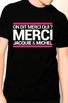 Tee-shirt officiel (visuel 10, noir) � l'effigie de  Jacquie & Michel, votre site amateur pr�f�r�.