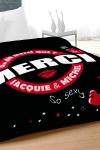 Couette imprim�e Jacquie et Michel, format 220x240 cm pour lit 2 places de largeur standard.