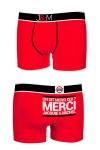 Ne loupez jamais une belle occasion de montrer votre... Boxer (mod�le rouge en coton) Jacquie et Michel.