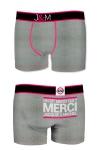 Ne loupez jamais une belle occasion de montrer votre... Boxer (mod�le gris en coton) Jacquie et Michel.