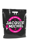 Sac plastique Jacquie & Michel bio-d�gradable, dimensions 450 x500 mm.