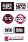 Les 7 Stickers officiels Jacquie & Michel � coller o� vous voulez.