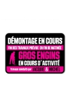 Plaque de porte humoristique Jacquie et Michel, en PVC, avec message: D�montage en cours...