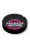 Cendrier noir en c�ramique Jacquie & Michel.