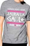 Comme disait C�sar, j'aurai la Gaule , un T-shirt de la collection officielle Jacquie & Michel. Coloris gris.