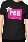 PCR  pour  Plan cul r�gulier , un T-shirt de la collection officielle Jacquie & Michel, coloris noir.
