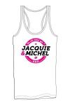 Marcel pour homme avec gros logo J&M sur la poitrine, issu de la collection officielle Jacquie & Michel.