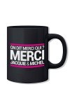 Le mug officiel du site Jacquie et Michel, mod�le noir.