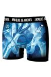 Boxer Jacquie & Michel humoristique en microfibre repr�sentant une image aux rayons X, prise au moment opportun.