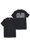 T-shirt humoristique Jacquie et Michel, avec inscription  STAFF  dans le dos, pour impressionner votre entourage !