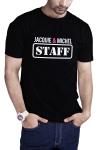 T-shirt humoristique Jacquie et Michel STAFF, en noir, pour impressionner votre entourage !
