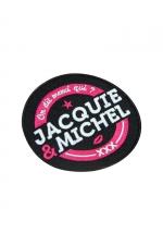 Ecusson rond Jacquie et Michel
