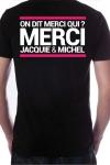 Le Tee-shirt exclusif (visuel 7) � l'effigie de  Jacquie & Michel, votre site amateur pr�f�r�.