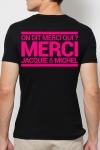 A la demande g�n�rale, le t-shirt J&M rose Fluo pour faire la f�te et briller jusqu'au bout de la nuit.