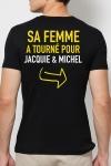 Le tee-shirt humoristique J&M r�serv� aux Mecs M�ga Costauds ! Vous avez le go�t du risque ?