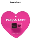 1 paire de d� coquins sign�s Love to Love, pour pimenter vos jeux entre adultes consentants et laisser le hasard guide vos gestes.