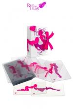 Jeu érotique SuperPoses - le jeu coquin de superposition de cartes transparentes, pour donner libre cours à votre imagination.