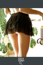 Mini jupe Lola - Mini jupe à volants de tulle et de dentelle, une élégance toujours sensuelle.