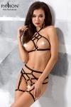 Ensemble lingerie sexy fetish aux lani�res provocantes.