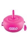 Solide sexe machine gonflable et vibrante, fournie avec 2 godes r�alistes, pour des chevauch�es torrides, marque Dillio.