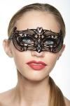 Masque vénitien métal décoré de strass, un bandeau sophistiqué et mystérieux sur votre regard.