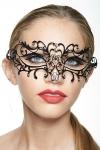 Masque v�nitien en m�tal incrust� de strass, deux ailes myst�rieuses capturent votre regard.