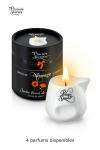 Bougie de massage sensuelle aux ar�mes de plantes, avec 4 d�licieux parfums, par Plaisirs Secrets.