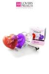 3 Coeurs chauds de massage, pour une intimit� accrue en quelques secondes!