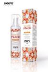 Huile de massage Exsens White Peach, chauffante et gourmande, BIO, � la p�che blanche. Flacon de 50 ml.