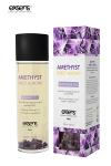 huile de massage relaxante certifi�e Bio � l'am�thyste et � l'huile d'amande douce, par Exsens.