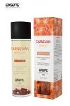 huile de massage dynamisante certifi�e Bio � la Cornaline et � l'huile d'Abricot, par Exsens.