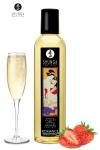 Huile de massage �rotique  Romance au vin p�tillant et � la fraise pour �veiller les sens et la r�ceptivit� amoureuse, par Shunga.